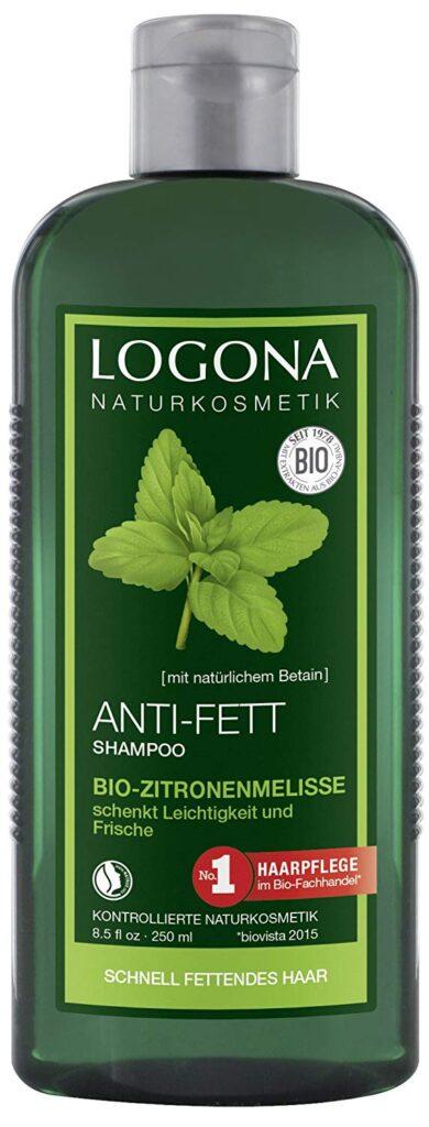 shampoo Logona antibatterico in confezione verde felce