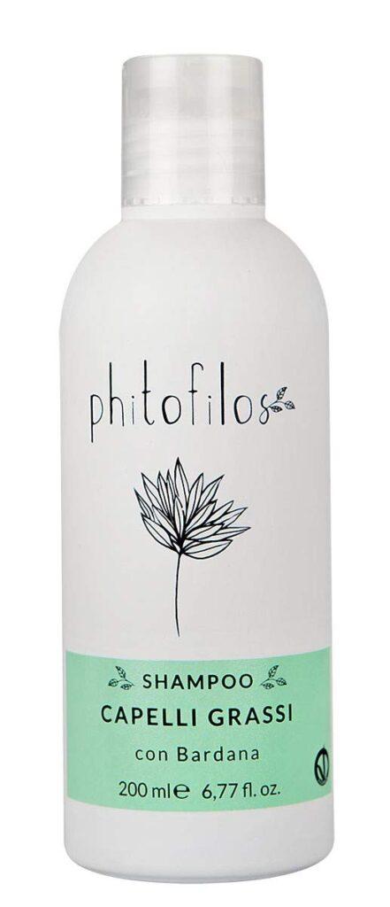 flacone shampoo phitofilos per capelli grassi con bardana