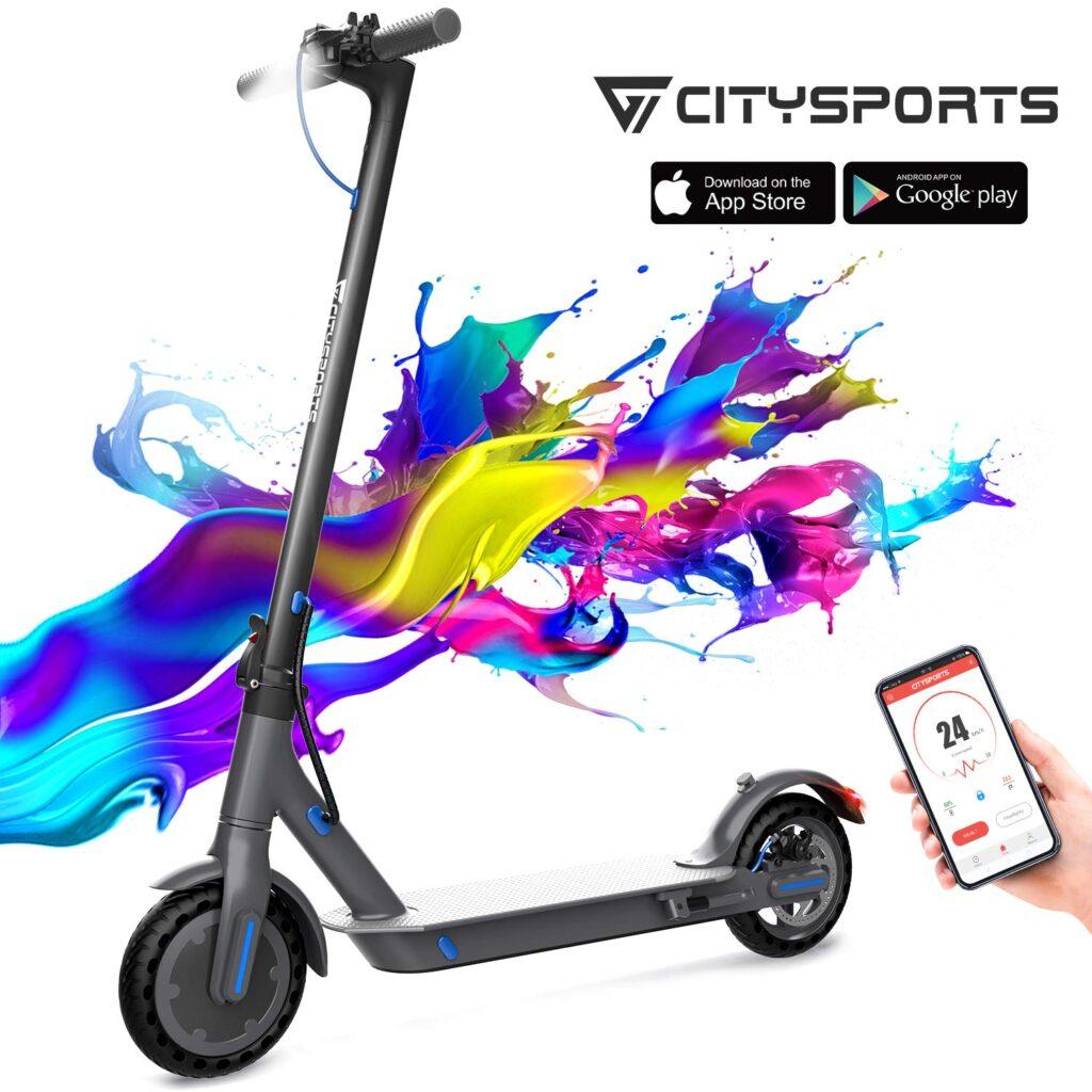 Monopattino elettrico Citysports con app di controllo